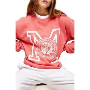 Topshop Michigan Crewneck Sweatshirt